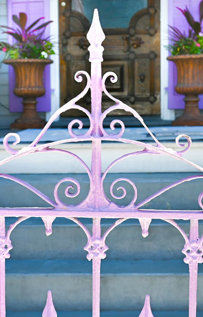 Purple gate at our Key West Bed and Breakfast